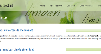 Website Menutext